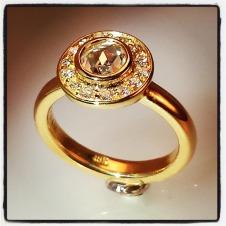 diamond/18KY engagement ring