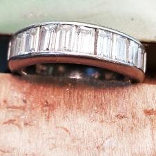 platinum/diamond baguette ring