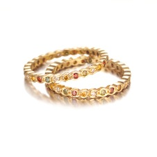 multi-colored diamond eternity band