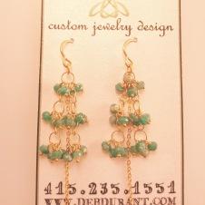 14KY/emerald bead