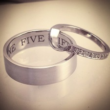 platinum/diamond wedding sets