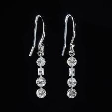 diamond/platinum earrings