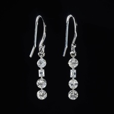 diamond/platinum earrings
