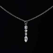 diamond/platinum necklace
