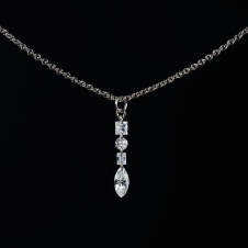 diamond/platinum necklace