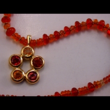 ruby/colored sapphire/Mexican fire opal