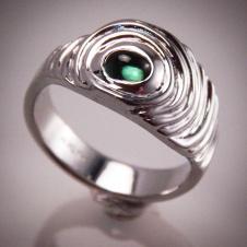 tourmaline/platinum ring