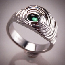 tourmaline/platinum ring