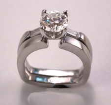 platinum/diamond ring set