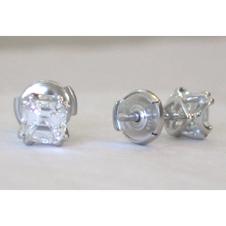 platinum/Asscher cut diamonds