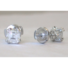 platinum/Asscher cut diamonds