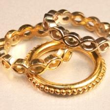 custom 18K gold rings