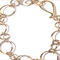 hand hammered 14KY link bracelet