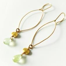 prehnite earrings