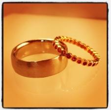 wedding set sapphires