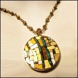 mosaic turq stripe