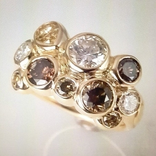 multicolored diamond ring
